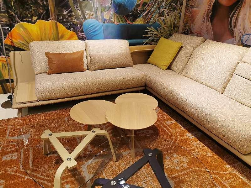 LEOLUX Sofa Paleta inkl. Couchtische Iris / Ninfea / Beistelltisch Griffo
