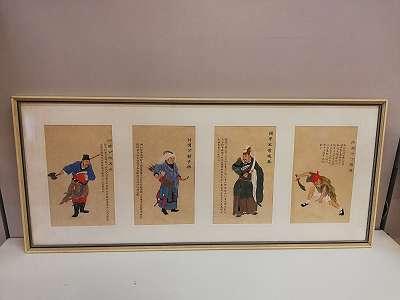 4 Darstellungen von Asiatischen Kriegern