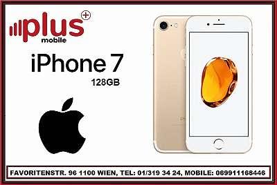 IPHONE 7 128GB GOLD , GEBRAUCHT, IN GUTEN ZUSTAND, WERKSOFFEN, GARANTIE, PLUS MOBILE !