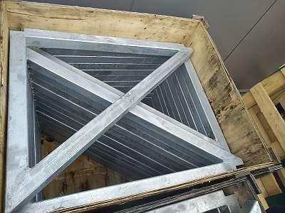 Dreieckskonsole Stahl verzinkt - 80 x 60 cm, Abverkauf