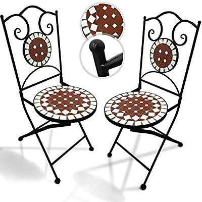 SIMSALABIM 2 Mosaik Gartensessel 59?, kostenloser Versand, rot