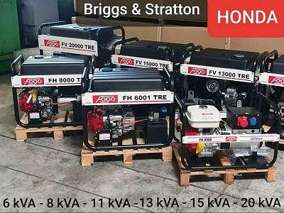 HONDA Stromaggregat 6kVA - 20kVA / Stromerzeuger Notstromaggregat