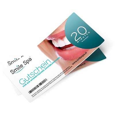Gutschein für die Zahnaufhellung im Studio | Bleaching | Smile Spa | weiße Zähne