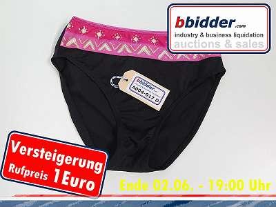 Damen Badehöschen schwarz mit rosa Größe 38