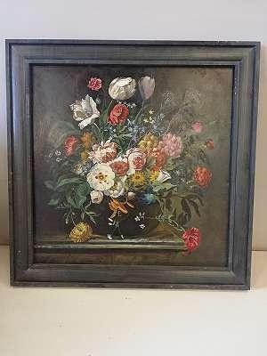 Stilleben mit Weißen Blumen