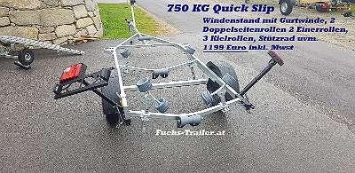 750 KG Bootsanhänger mit Easyslip fastslip Bootstrailer Boot Anhänger Trailer Lorries