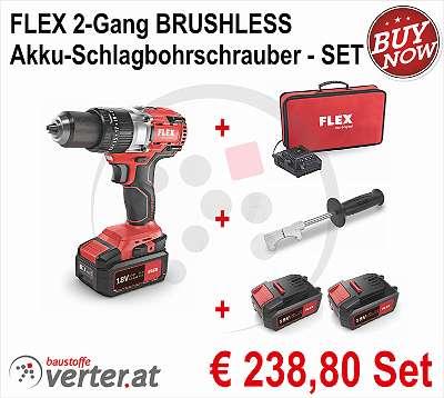FLEX 2-Gang Akku - Schlagbohrschrauber - SET
