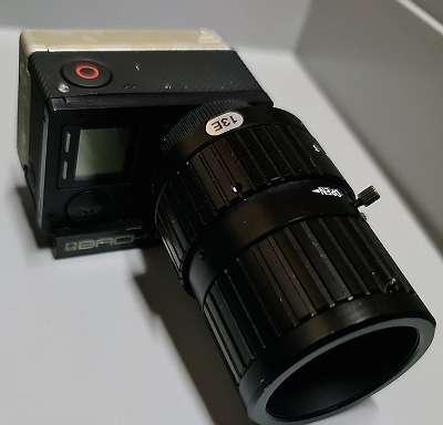GoPro Hero 4, mit Back-Bone Ribcage und Compar Megapixel IR f=4.5-13,2mm Objektiv #513276 #513275