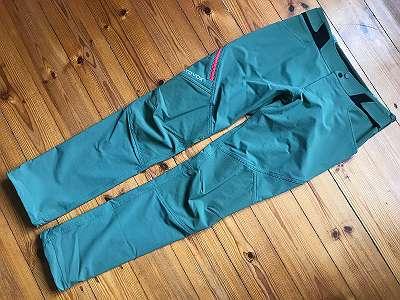 S / ORTOVOX elastische Nylon+ CORDURA Trekkinghose GREEN FOREST