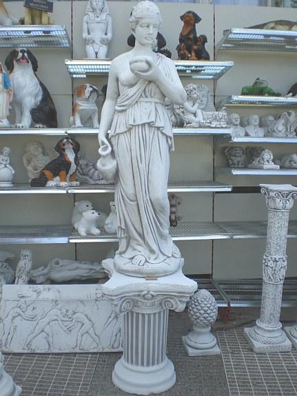 dame frau steinfigur xxl 130 cm garten figur venus statue skulptur neu 230 3441. Black Bedroom Furniture Sets. Home Design Ideas