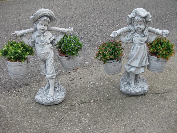 Wassertr Ger Bub Oder M Dchen 60 Cm Blumentopf Steinfigur