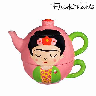 It´s FRIDA! Angesagtes Frida Kahlo Tea for One - Set aus Steingut