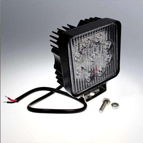 aktion led arbeitsscheinwerfer 9 30 volt 27 watt. Black Bedroom Furniture Sets. Home Design Ideas
