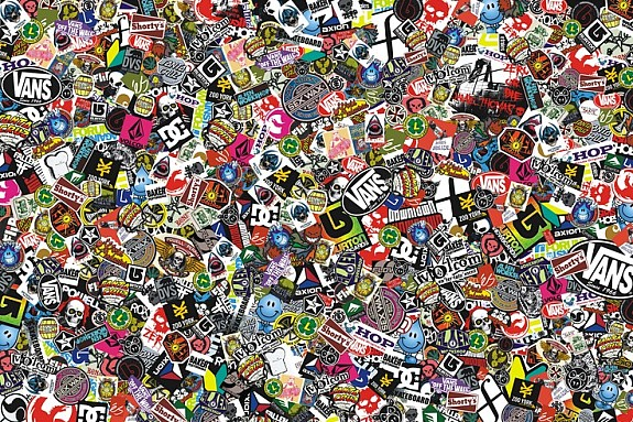 sticker bomb folie comic folie mit echten logos 152x100cm. Black Bedroom Furniture Sets. Home Design Ideas