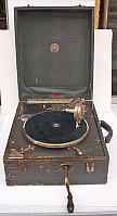 Original altes Koffergrammophon
