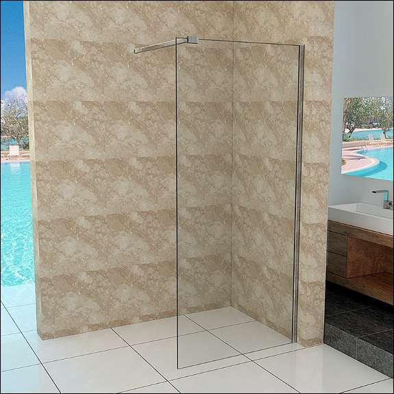 Walk in duschtrennwand 10mm esg glas 90 140cm duschwand 249 1040 wien willhaben - Schwenkbare duschwand ...
