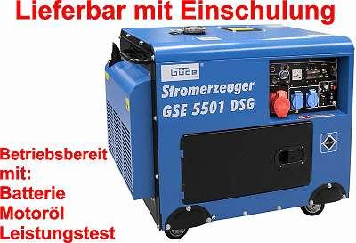 Güde Stromaggregat Diesel, GSE 5501 DSG Silent mit Elektrostart, Vorführgeräte auf Anfrage! Notstromaggregat, Stromerzeuger