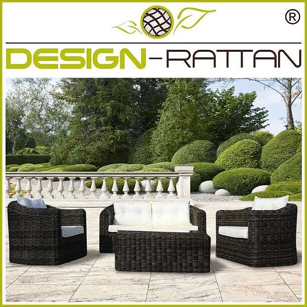 Europaletten Gartenmobel Streichen : DesignRattan®  BALI Exklusiv Rundrattan  SAMPANG, € 1299