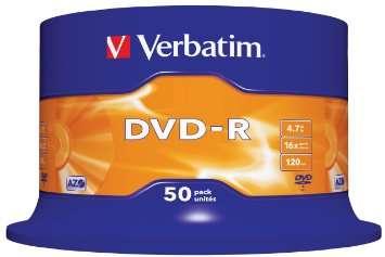 DVD ROHLINGE VON VERBATIM 50STK
