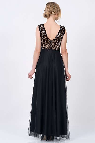 kleid abendkleider partykleid schwarze kleider kleid mit spitze. Black Bedroom Furniture Sets. Home Design Ideas