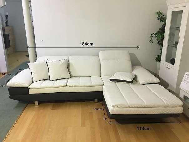leder couch sofa in schwarz wei 999 2130 mistelbach willhaben. Black Bedroom Furniture Sets. Home Design Ideas