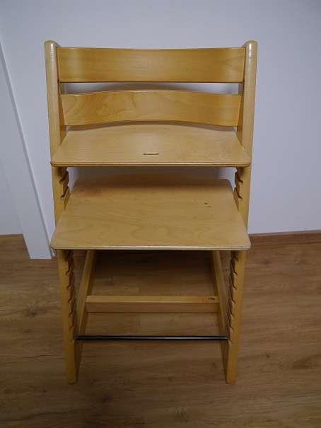 Stokke tripp trapp hochstuhl natur od kirsch optional mit holzb gel und ledergurt und kissen - Hochstuhl tripp trapp gebraucht ...