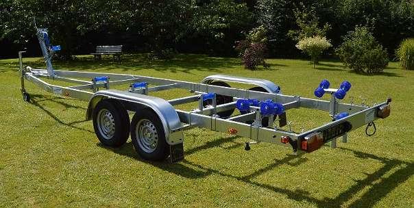 NEU 2700 Kg Doppelachs Bootsanhänger Bootstrailer ...