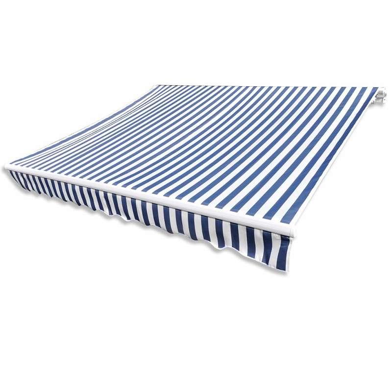 NEU vidaXL Sonnenschutz Blau & Weiß 3 x 2,5 m (Rahmen nicht ...