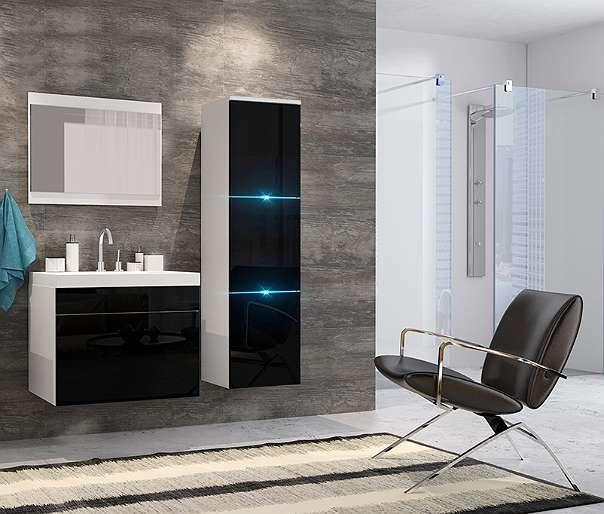 Badezimmer Porta Mini Komplettset Inkl Waschbecken Spiegel Led