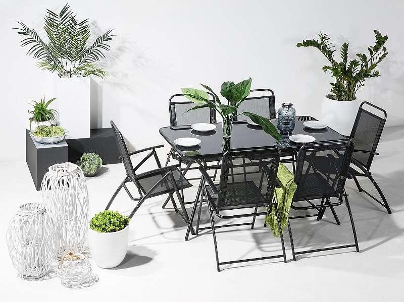 Gartenmöbel Set Stahl schwarz 6-Sitzer LIVO, € 279,- (1190 Wien ...