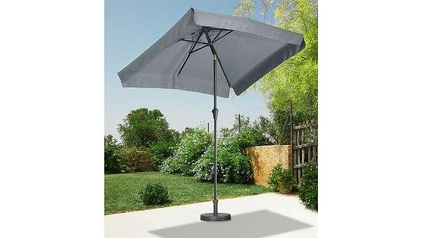 Sonnenschirm Gartenschirm Kurbel Schirm Rechteckschirm 245610 49