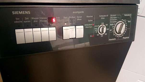 Siemens toplader schwarz silber neuwertig mot 6. monate garantie