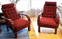 alles in rot, Kanadier , Sofa , Fauteuil, Sessel, Bank, siehe viele Fotos