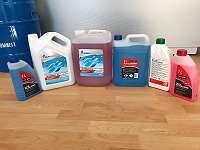 Kühlerfrostschutz, Kühlflüssigkeit G12, G48, G11, Blau, Rot, Gelb