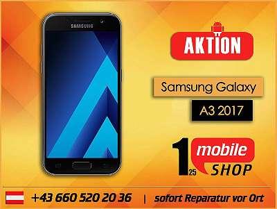 Samsung Galaxy A3 2017 - GEBRAUCHT - mit Garantie - Werksoffen - #Schwarz