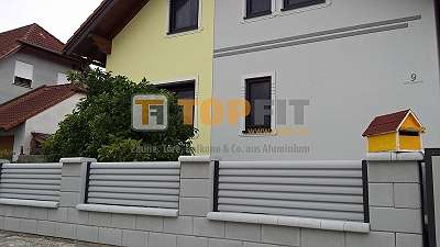 Aluminium Zaun- und Toranlage, Modell JUPITER