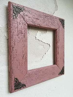 Bilderrahmen-Shabby, Altholz 32x30, Ornament