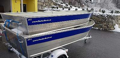 NEU 445U Aluminiumboot 445 U Aluboot Fischerboot Angelboot Ruderboot Motorboot Wallerboot Arbeitsboot Rettungsboot Boot Marine