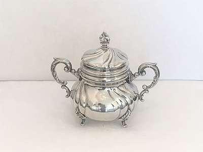 Dresdner Zuckerschale Barock 925 Silber