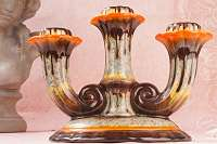 ART DÉCO – Laufglasur Kerzenständer um 1920