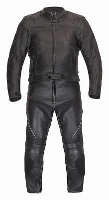 Lederkombi als Zweiteiler von XLS Motorradkombi schwarz zweiteilig Gr. 46 48 50 52 54 56 58 60 62 64 66 68 70