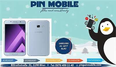 Samsung A3 2017 | 16 GB Blau | Offen für alle Netze | Super Zustand | inkl Zubehör