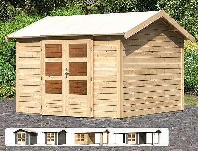 Karibu Gartenhaus Tastrup 7 mit gratis Dacheindeckung!