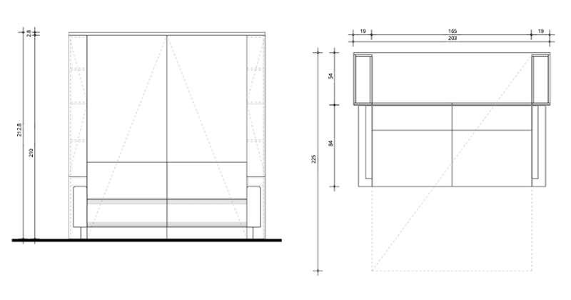 Klappbett Ladenstein Liegefläche 160x200cm