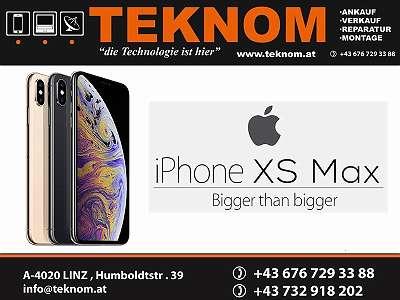 IPHONE XS MAX 256 GB / SPACE GRAY / NEU / FREI FÜR ALLE NETZE / VOLLER HERSTELLER GARANTIE