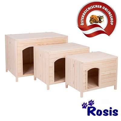 Hundehütte aus Holz in 3 Größen NEU (Versandkostenfrei) - Größe 3 ist lagernd.