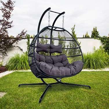 Bild 1 von 14 - Luxus Hängesessel Skyros I (Hängematte Swing Chair Hollywoodschaukel Hängeliege Hängekorb) NEU