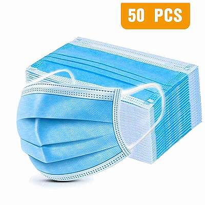 50x Atemschutzmaske/ Mundschutz/ Schutzmaske/ Mund- Nase- Schutz/ Einwegmaske/ Maske/