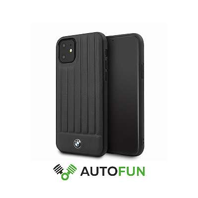 Handyhülle BMW Real Leather Hard Case pro iPhone 11 Black