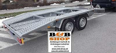 B&B Anhängerverleih Autotransportanhänger um 45. -?/ Tag mieten ! von 750-2800Kg